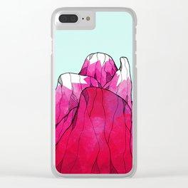 Rose pink peak Clear iPhone Case