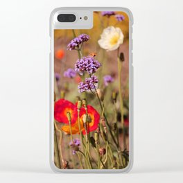 Amid the Poppies Clear iPhone Case