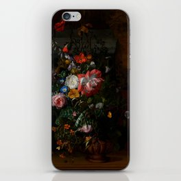 "Rachel Ruysch ""Roses, Convolvulus, Poppies, and Other Flowers in an Urn on a Stone Ledge"" iPhone Skin"