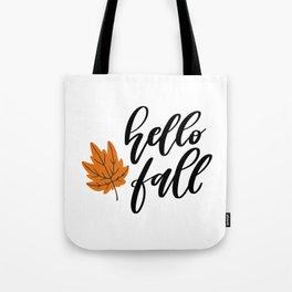 Hello Fall Tote Bag