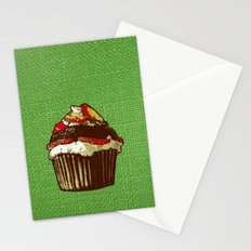 strawberry cake Stationery Cards