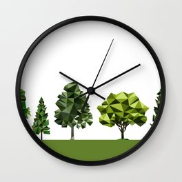 Poly geometric trees Wall Clock