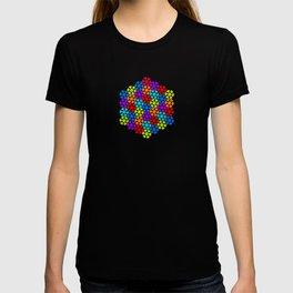 Multi-Coloured Flower Pattern T-shirt