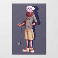 hunter x hunter Canvas Prints featuring hunter x hunter - killua by gutter