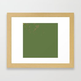 Green hearts Framed Art Print