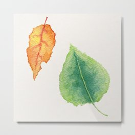 foglie Metal Print
