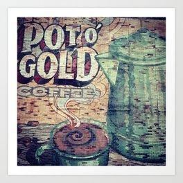 Coffee Sign Art Art Print