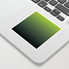 Ombre | Lime Green and Charcoal Grey Sticker