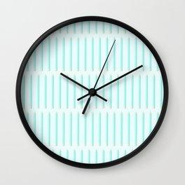 PENCILS ((aqua)) Wall Clock