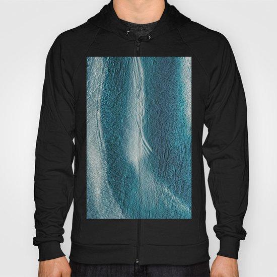 Blue silver waves on metal grunge look Hoody