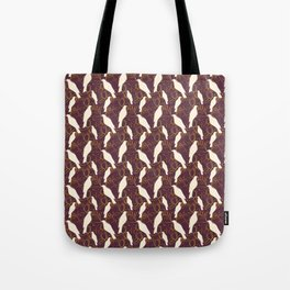 Kereru and magnolia - chocolate  Tote Bag