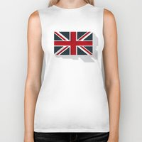 union jack Biker Tanks featuring Union by rob art | simple