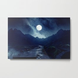 Walk to the Moon Metal Print