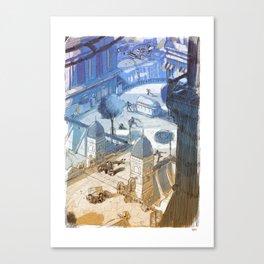 Columbia Fight Canvas Print