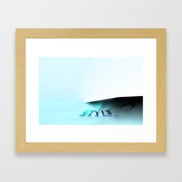 Style design Framed Art Print