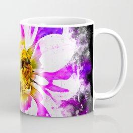 bees on flower splatter watercolor Coffee Mug