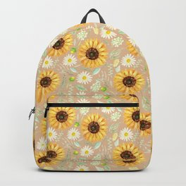 Sunflowers | Watercolor | Pattern  Backpack