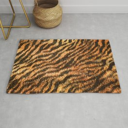 Bengal Tiger Fur Wildlife Print Pattern Rug
