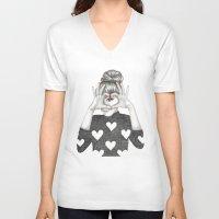 valentine V-neck T-shirts featuring Valentine by Sara Elan Donati