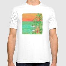 A Frame Dream Home Surf Paradise MEDIUM Mens Fitted Tee White