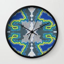 Glacial Kaleidoscope Wall Clock