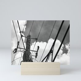 Skylines and Power (b&w) Mini Art Print