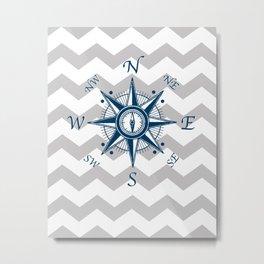 Nautical Anchor, Nautical Art Print, Linen Textured, Nautical Print, Ship Anchor, Nautical Art, Nautical, Ocean, Sea, Sailing Art Print, Nautical Decor, Anchor Poster, Kids Room, Nursery, Playroom, Children's Art Print, Compass Metal Print