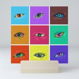 on the roads at night i saw the glitter of eyes Mini Art Print