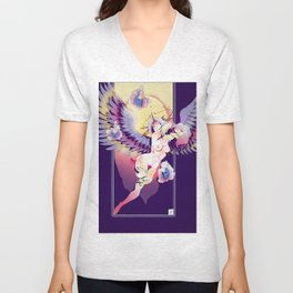 Angel Pin-Up Unisex V-Neck