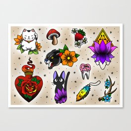 Traditional Flash Sheet 3 Canvas Print