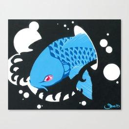 Astro Koi Blue Canvas Print