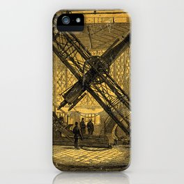 The Great Eqautorial Telescope in the Dome, Greenwich Observatory iPhone Case