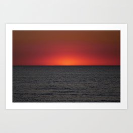 quiet sunset Art Print
