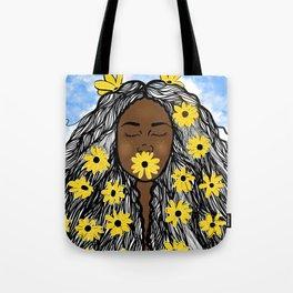 Sunflower Goddess Tote Bag