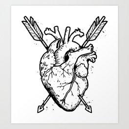 Hunted  Heart Art Print