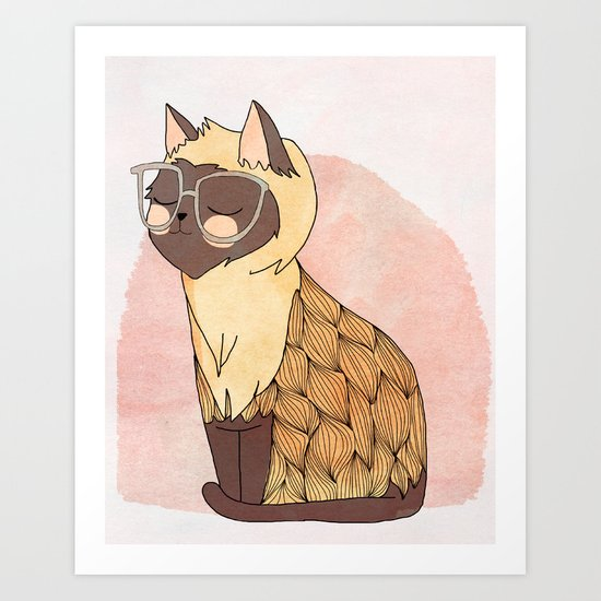 Hip Cat Art Print