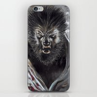 werewolf iPhone & iPod Skins featuring Werewolf by Jeff B. Harris