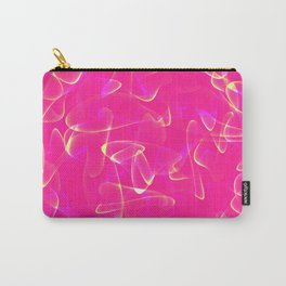 Cosmic glowing lines in pink smoky style. Carry-All Pouch