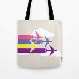 Colorful airplanes Tote Bag