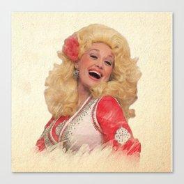 Dolly Parton - Watercolor Canvas Print