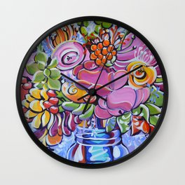Graphic Floral 2 Wall Clock
