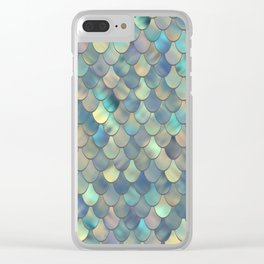 Mermaid Sea Shell Iridescent Clear iPhone Case