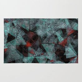 Triangle chaos Blood snowflakes Rug