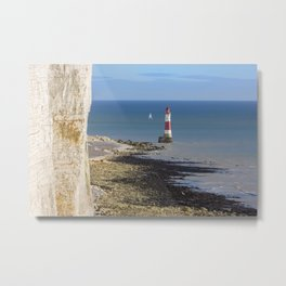 Beachy Head Lighthouse Metal Print