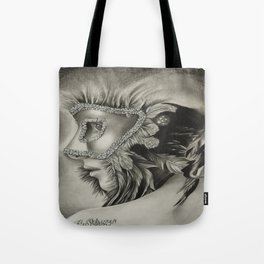 masquerade mask girl Tote Bag