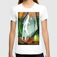 tennis T-shirts featuring Tennis by Robin Curtiss