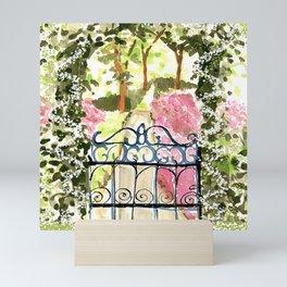 The Secret Garden Gate Mini Art Print