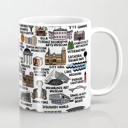 Milwaukee Map  Coffee Mug