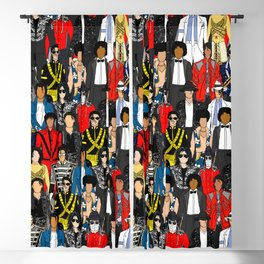 King MJ Pop Music Fashion LV Blackout Curtain