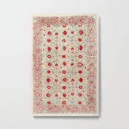 Nurata Suzani Uzbekistan Embroidery Print Metal Print